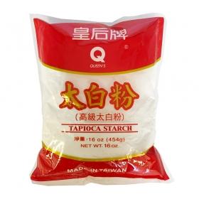 Queen's Premium Tapioca Starch 16 oz./Bag - 30 Bags/Case