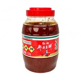 鹃城牌 红油郫县豆瓣酱 1.2 kg/桶 - 6桶/箱