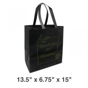 黑色带提手环保购物袋 - 100/箱