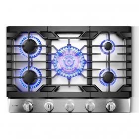 方太 GLS30501 三环灶 30寸 5眼燃气灶,三环火主炉头 21000 BTU
