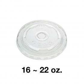 95 PET Flat Lid for 16-22 oz. Cold Cup - 1000/Case