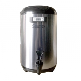 12L Black Thermometer Tea Container