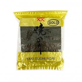Yaki Sushi Nori Full Sheets, KK Gold, 50 Sheets/Bag - 80 Bags/Case