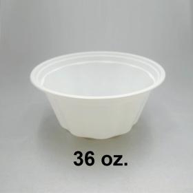 HT 36 oz. 圆形白色塑料碗底 (非套装) - 300/箱